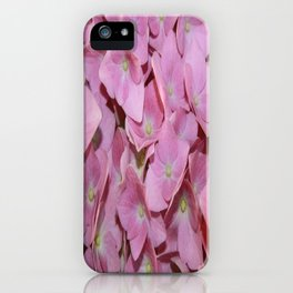 Pink Hydrangea Flowers Background iPhone Case