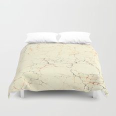Marbled Cream Duvet Cover
