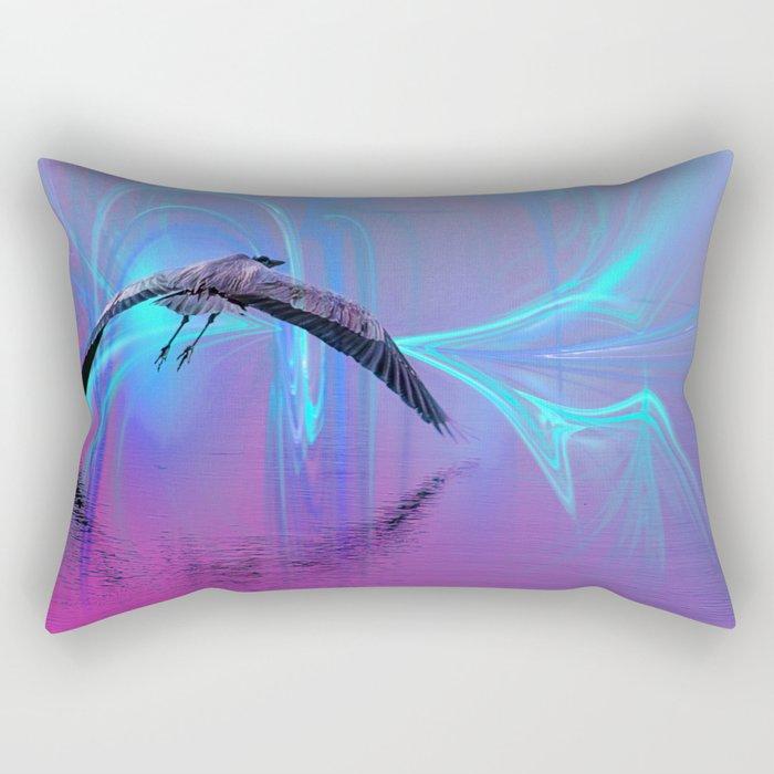 Into The Lagoon Rectangular Pillow