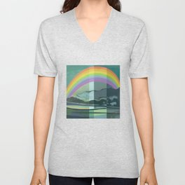 Hopeful Rainbow Unisex V-Neck