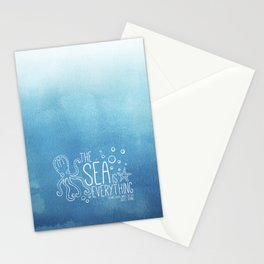 20,000 Leagues Under the Sea - Jules Verne | Quote 1 Stationery Cards