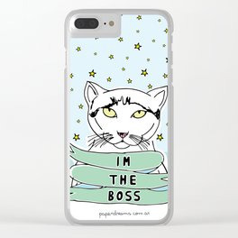 My Cat is the Boss Clear iPhone Case
