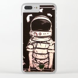 Hallo Spaceboy Clear iPhone Case