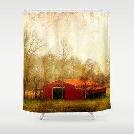 Flat Fork Barn Shower Curtain