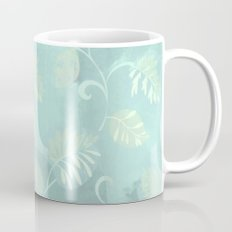 soft foliage in blue Coffee Mug