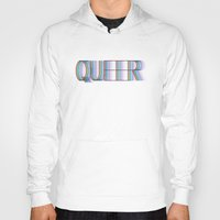 queer Hoodies featuring QUEER by Covered In Moons