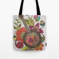 banjo Tote Bags featuring Ever Banjo by Valentina Harper