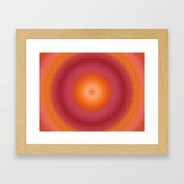 Ripple II Pixelated Framed Art Print