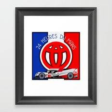 24 Hours of Le Mans - Toyota TS050 Framed Art Print