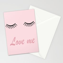 Love me #love #pink Stationery Cards