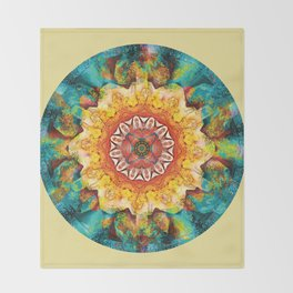 Mandalas from the Heart of Surrender 4 Throw Blanket