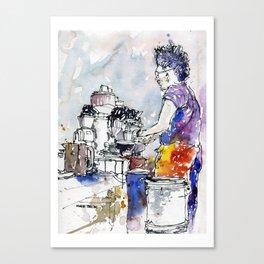 20140809 Oriole Barista - Bobby Canvas Print
