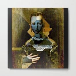 Marie de Medici V1 - Bronzino Metal Print