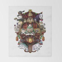 Ghibli Izakaya Print Coloured Throw Blanket