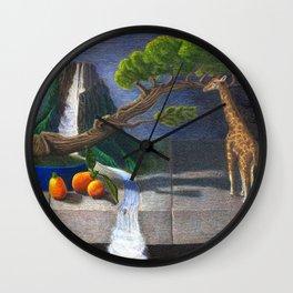 Still Life With Kumquats and Giraffe Wall Clock