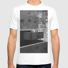 Cat in the closet MEDIUM Mens Fitted Tee White