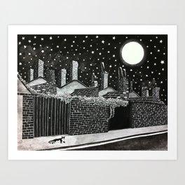 Poppy Moonshine Art Print