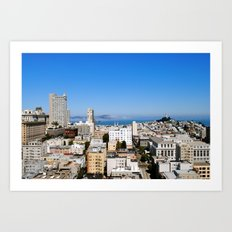 Overview of San Francisco  Art Print
