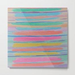 Rainbow Row Abstract Metal Print