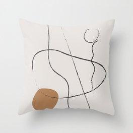 Line Art Abstract,  Throw Pillow