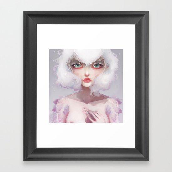 Le coeur des crocus... Framed Art Print