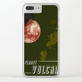 Impression of the planet vulcan Clear iPhone Case