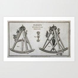 Hadley's Quadrant and Sextant Art Print