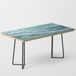 Mystic Stone Aqua Teal Coffee Table