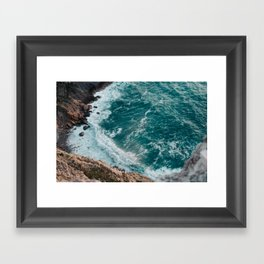 Strong tide Framed Art Print