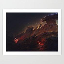 The Lost Explorer Art Print