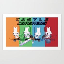 Castle Crashers Squad Art Print