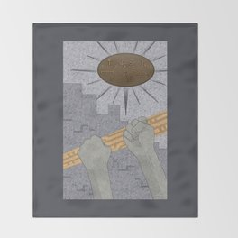 All Barriers Crumble and Fall - (Artifact Series) Throw Blanket