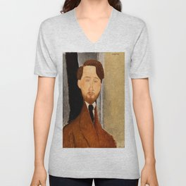 "Amedeo Modigliani ""Portrait of Léopold Zborowski"" Unisex V-Neck"