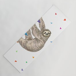 Sloth with Bunting #1 Yoga Mat