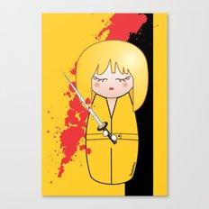 Kokeshi Beatrix of Kill Bill Canvas Print