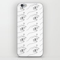 cigarette iPhone & iPod Skins featuring Cigarette Smoker by Katie Rosealea