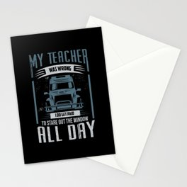 My Teacher Was Wrong Stationery Cards