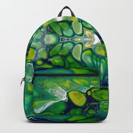 Bright Green Abstract Design Art Backpack