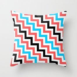 Maritime diagonal chevron Throw Pillow