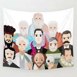 great philosophers and writers from all times Wall Tapestry