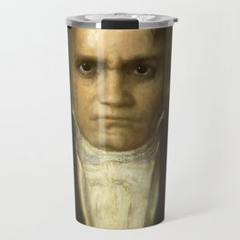 Ludwig van Beethoven (1770-1827) by Franz von Stuck (1863 - 1928)(2) Travel Mug
