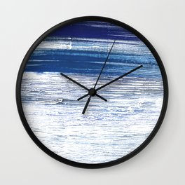 Indigo abstract watercolor Wall Clock