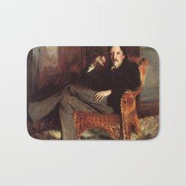 Vintage Painting of Robert Louis Stevenson (1887) Bath Mat