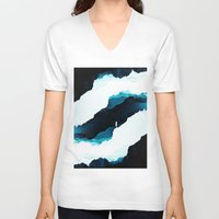 teal V-neck T-shirts featuring Teal Isolation by Stoian Hitrov - Sto