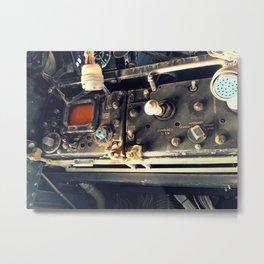 Boneyard E-1 Operator Panel Metal Print