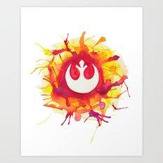 Star Wars Rebel Splatter Watercolor Art Print