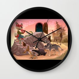 Music to go beyond the fear. Fox is playing the flute.  Wall Clock