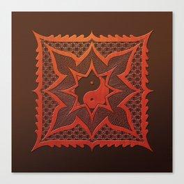 daorashi woodcut mandala Canvas Print