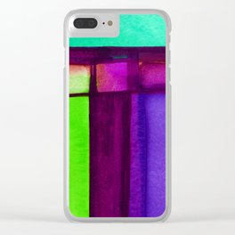 Color Block 4 by Kathy Morton Stanion Clear iPhone Case