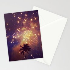 Palm tree fireworks Stationery Cards